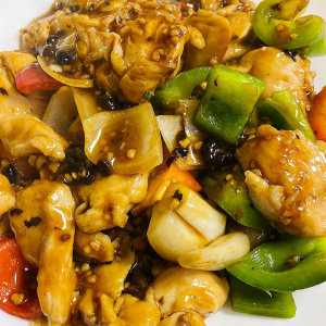 Chicken with Garlic and Black Bean Sauce