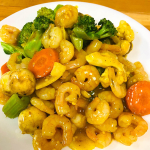 Shrimp with Curried Sauce