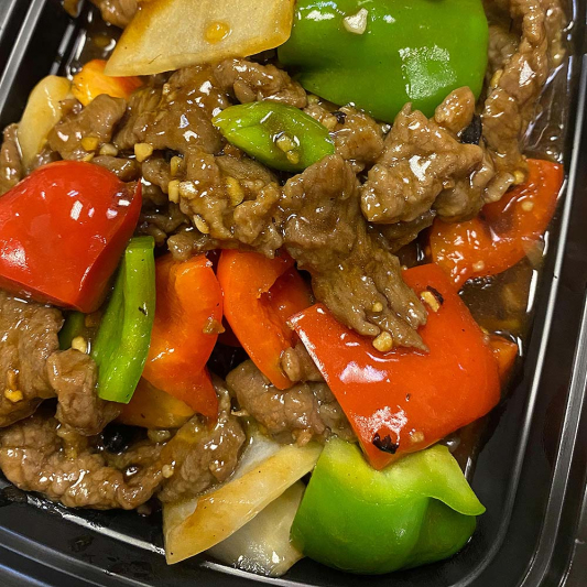 Beef with Garlic and Black Bean Sauce