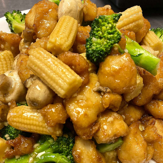 Chicken with Mushrooms and Broccoli