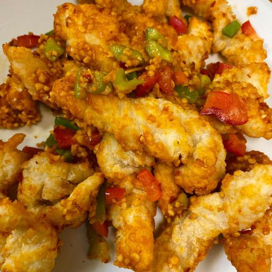 Cod Fish with Spicy Salt