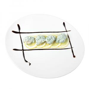 Гребешки со шпинатом под сливочным соусом
