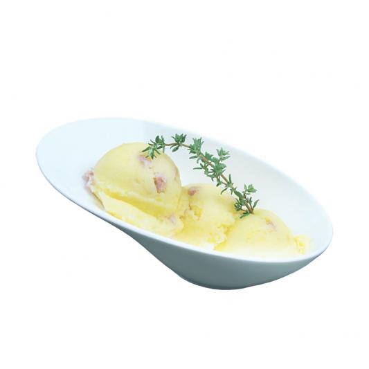 Пюре картофельное с жареным луком и шкварками