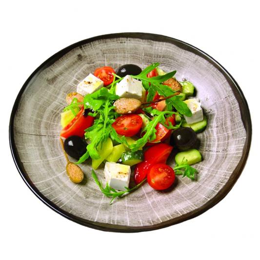 Греческий салат с Каперсами и Гигантскими Оливками