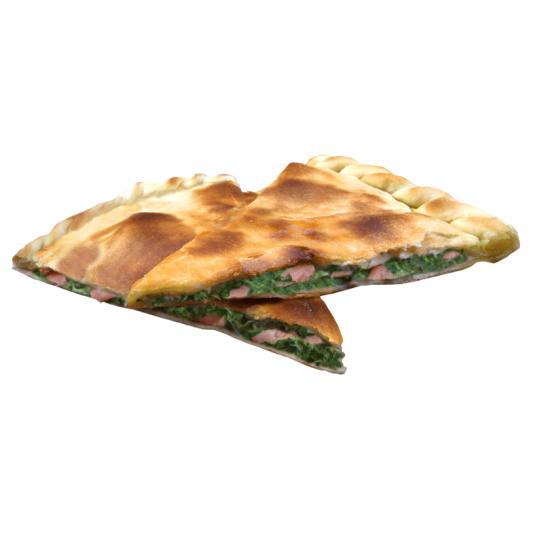 Пирог с шпинатом и лососем