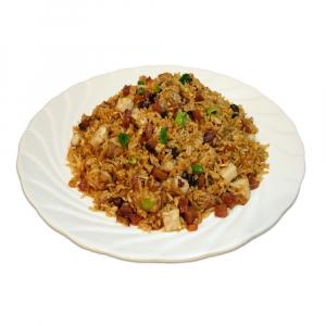 16. Chinese Sausage, Taro & Dried Shrimp Fried Sticky Rice