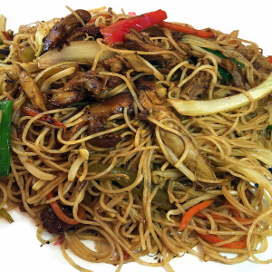 26. Braised Vermicelli with Shredded BBQ Duck & Pickled Veggie
