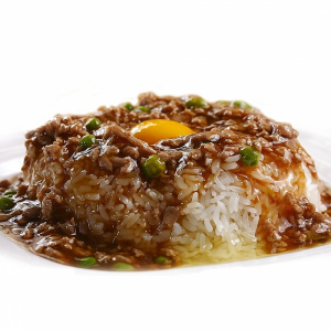 14. Minced Beef & Egg on Rice