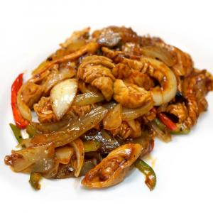 41. Sauteed Pork Intestine with Preserved Veggie