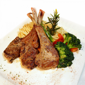 3. Lamb Chops with Black Pepper Sauuce