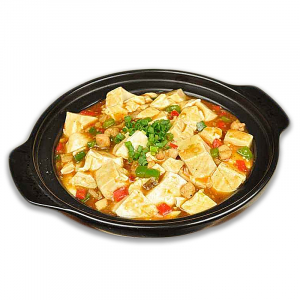 27. Diced Chicken, Salted Fish & Tofu in Hot Pot