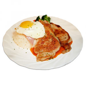 23. Satin Pork Chop on Rice