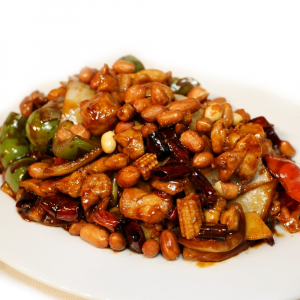 28. Diced Chicken with Spicy Bean Sauce & Peanuts