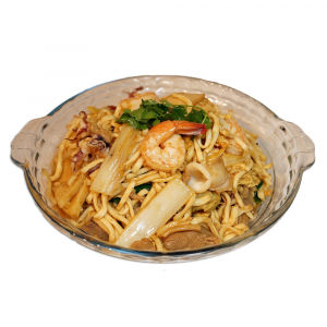 36. Braised E-Fu Noodle with Seafood