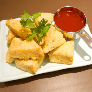 10. Deep Fried Tofu with Chili Pepper