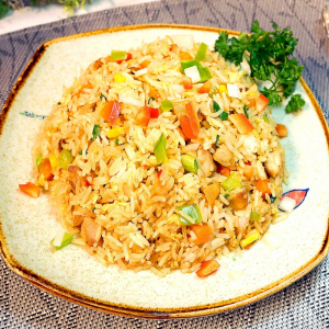 8. Thai Style Grilled Chicken Fried Rice
