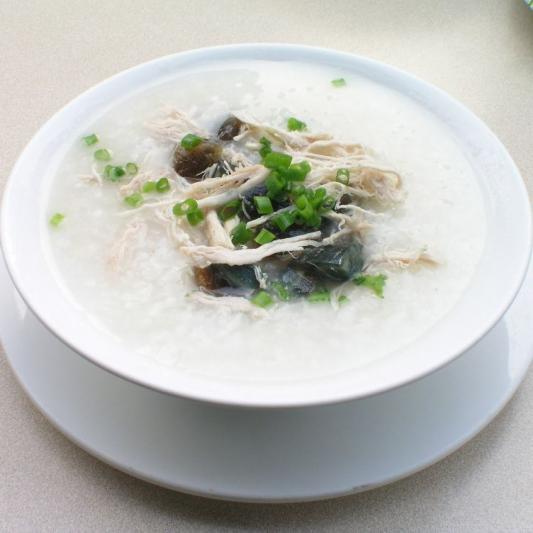 4. Boneless Chicken & Chinese Mushroom Congee