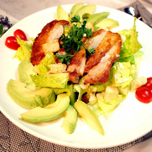 12. Roasted Chicken Caesar Salad