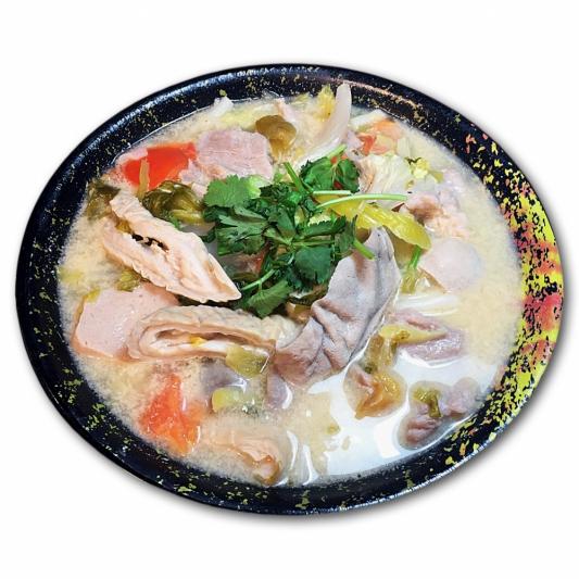 6. Pork Haslet & Pickled Cabbage Rie Noodle in Soup
