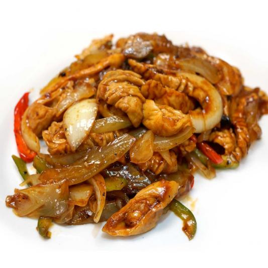 43. Sauteed Pork Intestine with Preserved Veggie