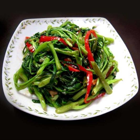 Stir Fried Tong Choy