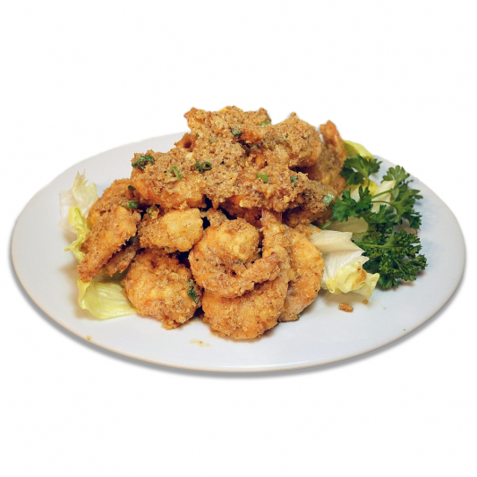 13. Deep Fried Prawns with Salted Egg Yolk (Shell-in)