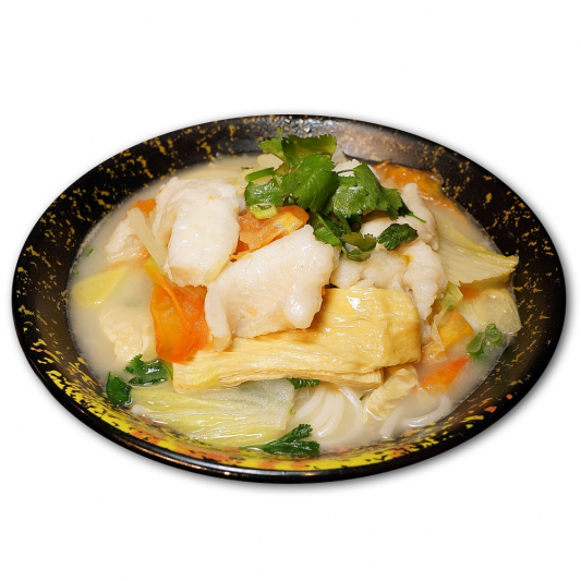 7. Sole Fish & Tomato with Rice Noodle in Soup