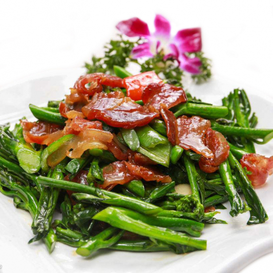 65. Sautéed Gai Lan with Preserved Meat