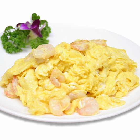 16. Sautéed Shrimp & Scrambled Eggs