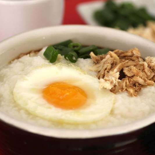 2. Shredded Pork & Preserved Egg Congee