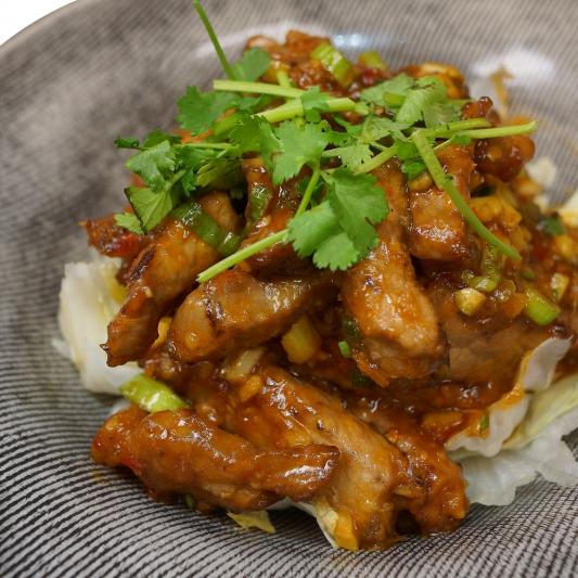 50. Shredded Beef Tenderloin in Spicy Garlic Sauce