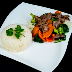 E11- Stir-fried Beef & Vegetables with Rice