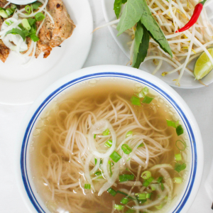 B16- Grilled Chicken Rice Noodle Soup
