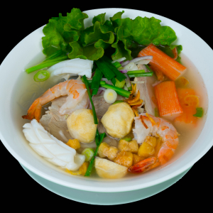 C05- Clear Noodle soup with Seafood & Pork (MY THO)