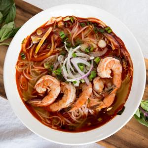 C13 - Tom Yum Goong (shrimps) Rice Noodle