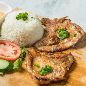 E04- Grilled Pork Chop with Rice