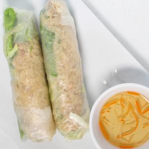 A04- Fresh Rolls (Shredded Pork & Pork Skin) (2 rolls)