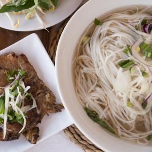 B15- Grilled Pork Chop Rice Noodle Soup