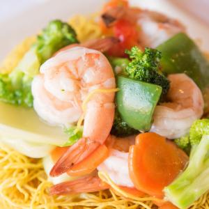 G04- Stir-fried Egg Noodles with Shrimps