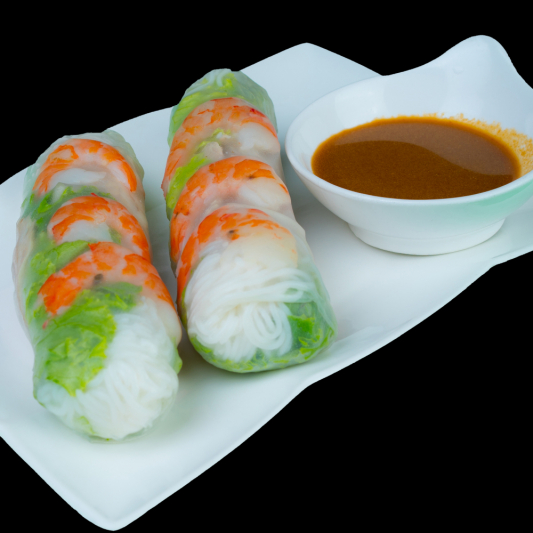 A03- Fresh Rolls (Shrimps & Pork) (2 rolls)