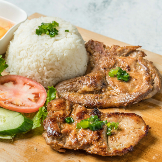 E06- Grilled Pork Chop & Grilled Chicken with Rice