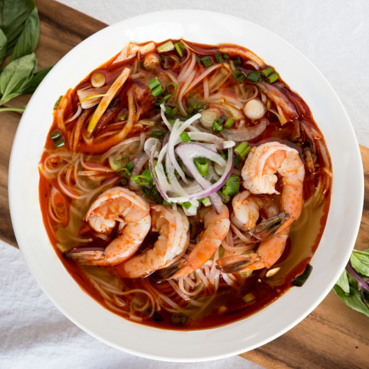 C13 - Tom Yum Goong (shrimps) Rice Noodle