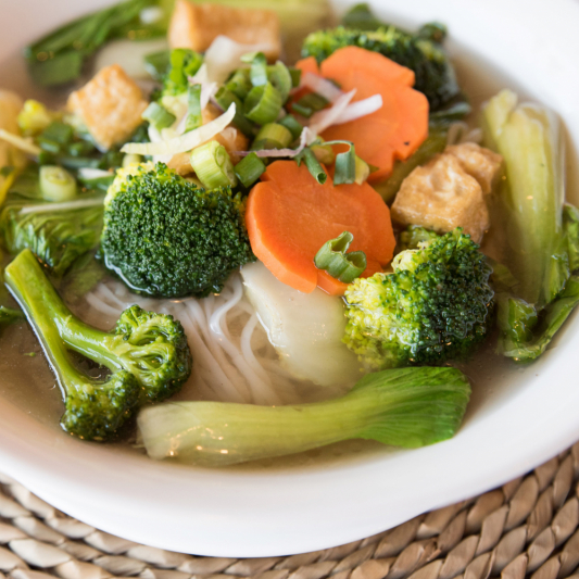 B17- Vegetable Rice Noodle Soup (choice of veggie broth or beef broth)
