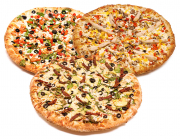 3 Pizzas Special 4 Toppings