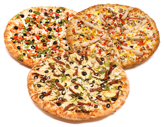 3 Pizzas Special 2 Toppings