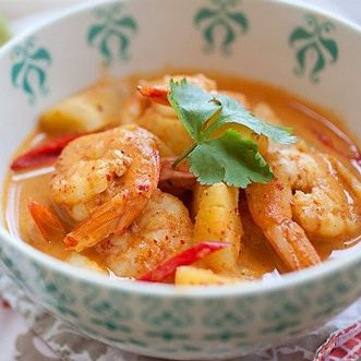 Pineapple Red Curry Shrimp