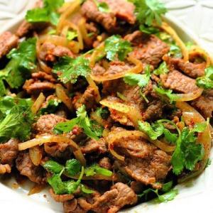 B8. Sauteed Lamb with Cilantro