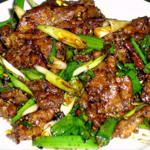 B10. Sauteed Lamb with Scallions
