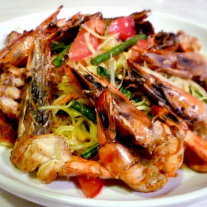 S4. Tiger Prawns with Minced Pork & Eggplant