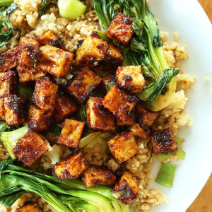 V2. Seasonal Vegetables and Crispy Tofu